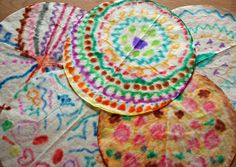 Coffee filter symmetry art project for kids