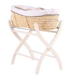 Draagwieg Claro, gemaakt van maisblad.  Deze wieg is eenpronkstuk om een romantische babykamer mee te maken.