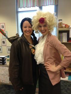 Every year at Lake Myra Elementary, there is a spirit week. On Friday you were supposed to dress up as your favorite book character. Here are 2 teachers who dressed up a Katniss and Effie!!!