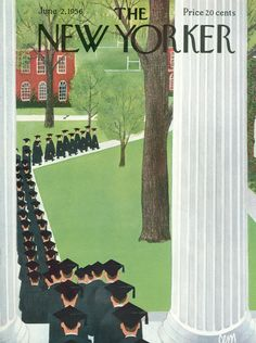 The New Yorker - Saturday, June 2, 1956 - Issue # 1633 - Vol. 32 - N° 15 - Cover by : Charles E. Martin