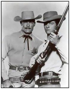 LAWMAN - John Russell as Marshal Dan Troop and featuring Peter Brown as Deputy Marshal Johnny McKay.