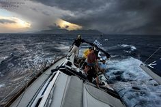I woke up aboard on a rainy windy morning and decided to add a few stormy sailing pics.