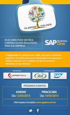 """A Uppertools em parceria com o Grupo Skill e a SAP promove a """"Manhã de Negócios"""": um evento que reunirá empresários de pequenas e médias empresas com o objetivo de discutir assuntos relevantes."""