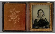 Portrait of a Seated Woman in Bonnet, ca. 1859-60 (VT) | In the Swan's Shadow