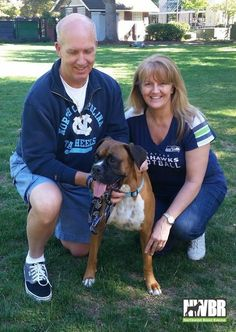Rocco received the news that a couple who had lost their last Boxer to old age and health issues were coming down from Tacoma to meet him. Fred and Lynda Morley took time away from the Seahawks game to bring this sweet boy home. It was an instant connection and Rocco couldn't be happier. He has waited a bit for just the right opportunity and Fred and Lynda had an emptiness that needed filled. Thank you Fred and Lynda for your support of Rescue and choosing adoption.