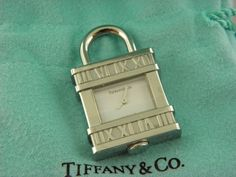 Tiffany & Co Atlas Numeral Watch Padlock Watch Charm For Necklace. #TiffanyCo #Pendant