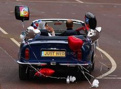 just wed, kate and william
