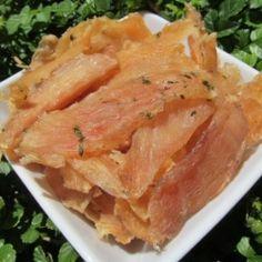 Mint Chicken Jerky Dog Treat Recipe by doggydessertchef