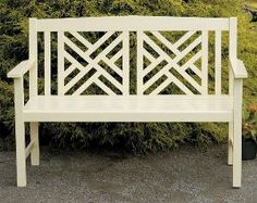 Fretwork Bench in Antique Ivory. Product in photo is from www.wellappointedhouse.com