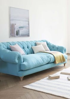 """Bagsie one of these!"" we all cried when we made the first one. Our very own version of the classic chesterfield, this deep-buttoned beauty is one sumptuous sofa."
