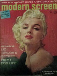 Modern-écran-Juin-1955-Marilyn-Monroe-cover-James-Dean