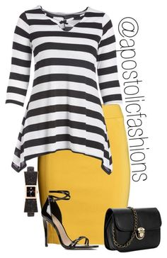 """Apostolic Fashions #1654"" by apostolicfashions ❤️ liked on Polyvore featuring H&M, ALDO and Kate Spade #churchoutfits"