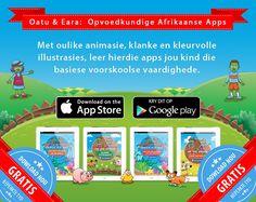 Afrikaanse apps vir kleuters Kids Web, App Store Google Play, Children Activities, Arno, Afrikaans, Pre School, Grade 1, Speech Therapy, Kids Learning