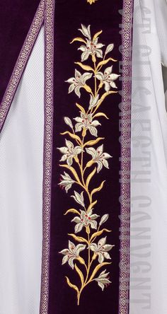 Embroidered Protodeacon's Orarion and Cuffs from Velvet Learn more: https://catalog.obitel-minsk.com/protodeacon-orarion-sh-13-31.html #CatalogOfGoodDeeds #OrthodoxVestments #DeaconVestments