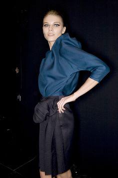 Lanvin at Paris Fashion Week Spring 2009 - Livingly Slouchy Tee, Pomeranian, Lanvin, Paris Fashion, Normcore, Navy, Spring, Tees, Cotton