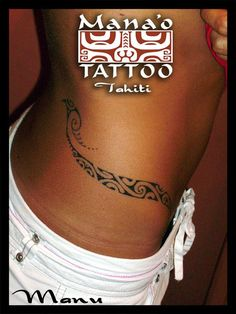 Polynesian tattoo, the style is beautiful