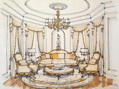 #дизайнинтерьера #декор #эскиз #дизайнпроект #sketch #interiordesign #pinwin #эскизинтерьера #handrendering #archisketch #ArchiSketcher