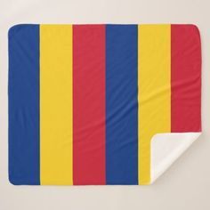 Patriotic Sherpa Blanket with Romania flag - home gifts ideas decor special unique custom individual customized individualized
