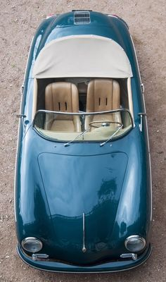 Porsche 356.....instant car love, and the color is absolutely perfect.