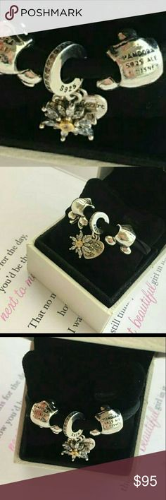 3 pandora charm sel Authentic Sterling silver Pandora charms no   Box included Jewelry Bracelets