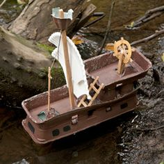 Set sail on this awesome pirate ship made from recycled egg cartons!