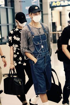 BTS || RAP MONSTER - Literally he looks so cute in overalls!!! =^•^=