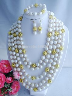 Find More Jewelry Sets Information about Free shipping!!! New Nigerian 13 15mm freshwater pearl beads necklace jewelry set for women A 2081,High Quality Jewelry Sets from Changzhou Day Colour Jewelry Co., Ltd. on Aliexpress.com
