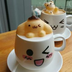 """Do you ever drink your latte in the morning and think """"Hmm I wish this was more three-dimensional and way cuter."""" Us too! Leo's Espresso in Hong Kong addressed this dire need by creating lattes with jiggly 3-D figures in them!"""