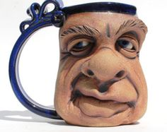 RICHIE one of a kind FACE MUG by Herksworks on Etsy