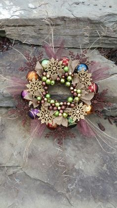 """RUSTIC CORNUCOPIA""  wreath by ChristineVCreations on Etsy"