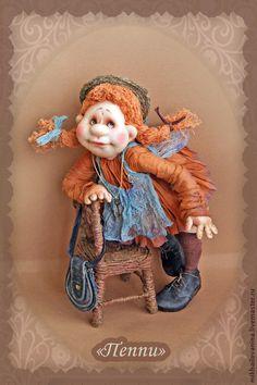 Купить Пеппи - Пеппи, сказочные персонажи, кукла ручной работы, кукла в подарок, в детскую комнату