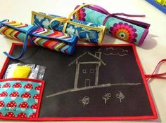 pizarra de tela- souvenirs- regalo día del niño.