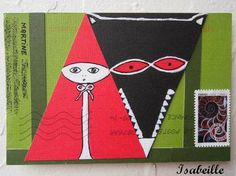 Art Postal, Opening Day, Red Riding Hood, Mail Art, Little Red, Werewolf, Art School, Art For Kids, Fairy Tales
