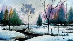 How to paint a simple landscape in watercolor | Paint with david |