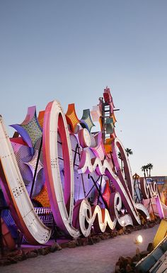 The Neon Museum, Las Vegas. This downtown gem has a collection of large-scale retired signage from past casinos and local businesses, many of which display the flashy neon lights that Vegas is so well known for! Find 5 fun and cheap things to do in Vegas besides casinos on A Globe Well Travelled.