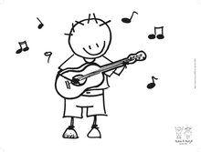 Rube & Rutje placemat gitaar