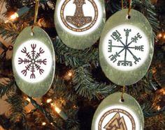 Viking Yule | Set of Four Viking, Heathen, Asatru Symbols Yule/Winter Solstice ...