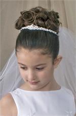 first communion tiara veil t815