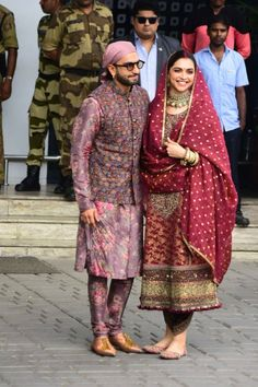 Power couple Deepika Padukone and Ranveer Singh celebrated one year of their togetherness yesterday.To embark Wedding Dresses Men Indian, Pakistani Formal Dresses, Wedding Dress Men, Indian Bridal Outfits, Indian Bridal Fashion, Indian Dresses, Wedding Couples, Wedding Ideas, Bollywood Outfits