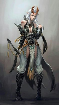 Pin by 15713151355 bailey on elves fantasy characters, character art, fanta Fantasy Girl, Fantasy Warrior, Fantasy Women, Fantasy Rpg, Anime Fantasy, Fantasy Artwork, Female Character Design, Character Concept, Character Art