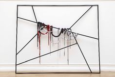 EVA ROTHSCHILD The Narrow Way (2007) Soft wood, leather, fabric, armature  80 1/4 x 145 3/4 x 24 1/2 inches