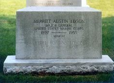 """Gen Merritt Austin Edson - World War II United States Marine Corps General, Congressional Medal of Honor Recipient. Known as """"Red Mike"""", he was famous for his exploits as the leader of the 1st Marine Raider Battalion, which was known as """"Edson's Raiders""""."""