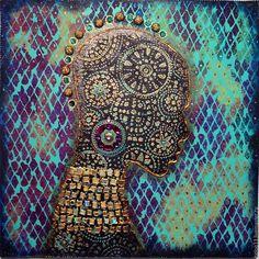 """Купить Декоративное панно """"AFRICA"""".... - комбинированный, декоративное панно, картина, панно, африка, Этнический стиль"""