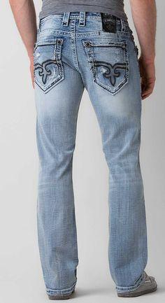 Rock Revival Florian Straight Jean - Men's Jeans   Buckle