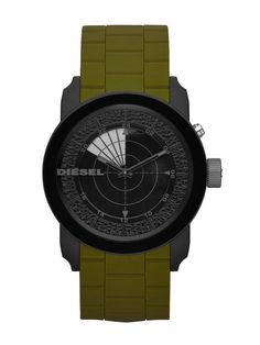 fefa439a6f62 The Diesel DZ1609 Franchise 44 Radar Effect Black Green Silicone Band Men  Watch NEW posseses an