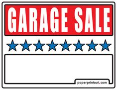 Yard Sale Signs - Download a Free Printable Sign | Yard Sale ...