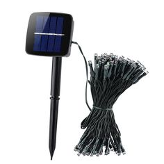 At a Glance. - Bring a touch of magic to your decorative lighting with this 100 LED solar powered light set - Consisting of 100 LEDs for red green and blue lights to brighten up any space - Powered Led Fairy Lights, Blue Led Lights, Solar Powered Lights, Solar Lights, Outdoor Landscaping, Outdoor Gardens, Outdoor Lighting, Outdoor Decor, Outdoor Stuff