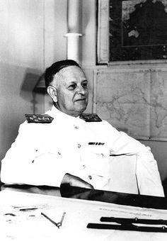 Admiral Husband Kimmel at the headquarters of the US Navy Pacific Fleet, Pearl Harbor, US Territory of Hawaii, Feb-Dec 1941