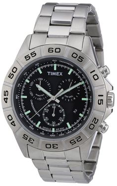 Timex T2N887 Mens Style Chrono Silver Watch