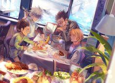 Gon, Killua, Leorio and Kurapika | Hunter X Hunter